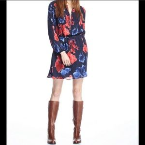 Michael Kors Macintosh Floral Dress Navy Red 4